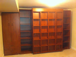 Murphy Bed Jefferson Library Sliding Library Murphy Bed