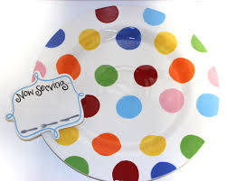 happy everything plates coton colors bright dot entertaining big platter jeannie s hallmark