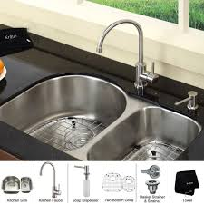 Best Kitchen Sinks And Faucets by Granite Double Bowl Kitchen Sink Picgit Com