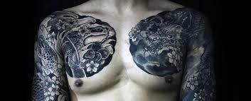 40 dragon chest tattoo designs for men mythical monster ideas