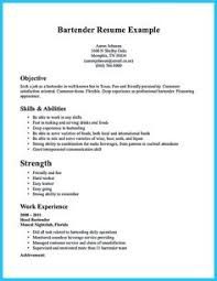 sample bartender resume skills fanciful sample bartender resume