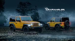 yellow jeep 4 door jeep wrangler jl 2 door our digital preview 2018 jeep