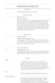 Sample Retail Sales Associate Resume by Retail Associate Resume Samples Visualcv Resume Samples Database