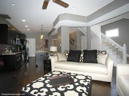 staged open floor plan in this
