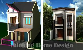 narrow lot lake house plans two storey design with floor plan