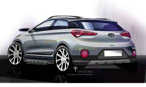 hyundai crossover 2016 2016 hyundai i20 active sketches released