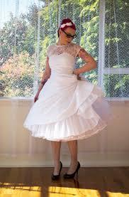 1950s rockabilly wedding dress u0027lacey u0027 with lace