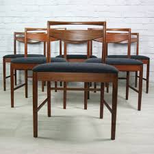 Mustard Dining Chairs by 6 Vintage 1970s Mcintosh Teak Dining Chairs Mustard Vintage