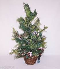 miniature artificial frosted pre lit tree ebay
