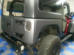 dark gray jeep black wrangler jeep wrapped in 3m matte dark gray illmatic wraps