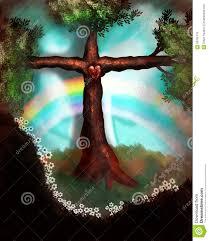 cross tree stock illustration image of easter tree 58755116