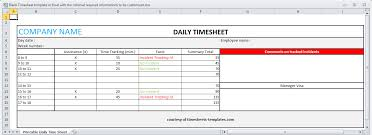 timesheet template in excel with the minimal required informations