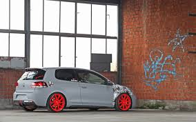 red volkswagen golf 2012 cfc volkswagen golf gti leitgolf red wheels 3 2560x1600