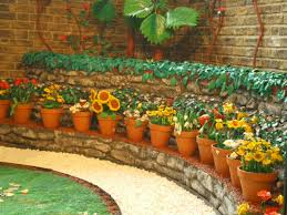 decoration large garden designs ideas with container for flower