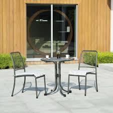 Portofino Patio Furniture Contemporary Chair Wire Mesh Steel Stackable Portofino