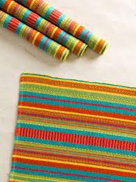 fiesta stripe rib placemat s 4 attic sale linens u0026 kitchen