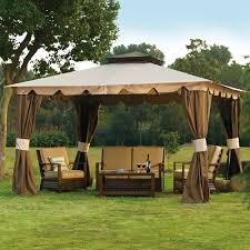 Outdoor Patio Gazebo 12x12 by 57 Patio Gazebo Tent Barbecue Gazebo Cover Curved Patio Canopy