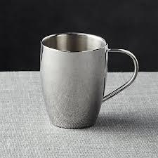 silver mug insulated stainless steel coffee mug in coffee mugs tea cups