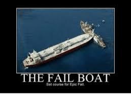 Epic Fail Meme - the fail boat set course for epic fail fail meme on sizzle