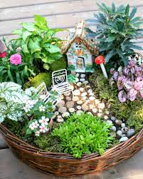 Gardening Basket Gift Ideas by The 50 Best Diy Miniature Fairy Garden Ideas In 2017