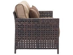 Zuo Outdoor Furniture by Zuo Outdoor Pinery Aluminum Wicker Sofa In Brown U0026 Beige 703792