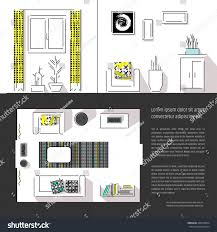 interior design magazine page layout web stock vector 446518054
