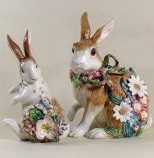 fitz and floyd ceramic bunny figurines ebth