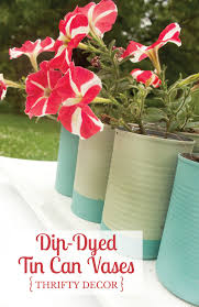 Tin Vases Dip Dyed Tin Can Vases Small Stuff Counts