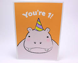 birthday cards for kids 1st birthday card kids birthday greeting cards hippo