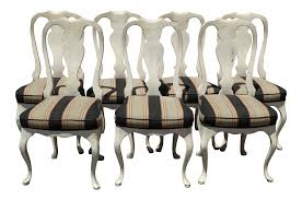 White Distressed Dining Table Vintage French Country White Distressed Dining Chairs Set Of 7