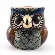 Bird Toothpick Dispenser Owl Mug Ceramics Handmade Guatemalan Imports
