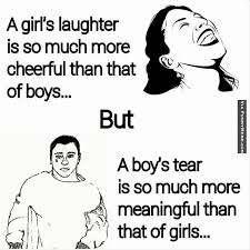 Boy Girl Memes - a girl s laughter is so much more cheerful than that of boys funny