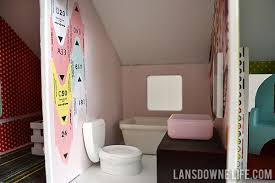 Tinkerbell Bathroom Diy Dollhouse Bathroom Furniture Part 6 Of 6 Lansdowne Life