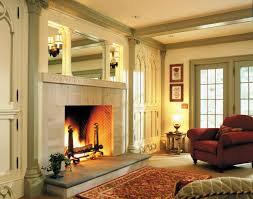 home accessories skylights with ceiling beams and stone fireplace