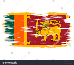 National Flag Of Canada Day Flag Sri Lanka Painted Brush Colored Stock Vector 269833097