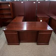 Used L Shaped Desk Used Kimball Right 72 L Shaped Executive Office Desk Walnut