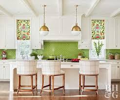 green kitchen backsplash green backsplash better homes gardens