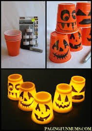 Halloween Ornaments To Make Halloween Cup Decorations Easy Halloween Plastic Cups And