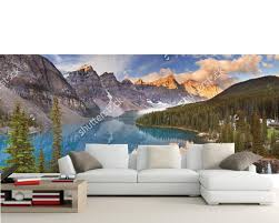 custom 3d large murals canada parks lake mountains moraine lake custom 3d large murals canada parks lake mountains moraine lake nature wallpapers living room sofa tv wall bedroom wall paper in wallpapers from home