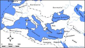 Biblical Map Of The Middle East by Map Of The Roman Empire In The Time Of Jesus Bible History Online