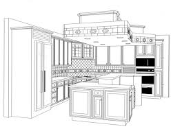 delighful kitchen design drawings cabinets in ideas
