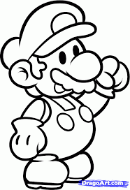 how to draw paper mario paper mario step by step video game