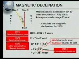 magnetic declination map matric revision geography map work calculations 4 7 magnetic