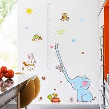 toise chambre b éléphant de bande dessinée toise mesure stickers muraux pour enfants