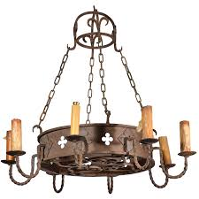 fleur de lis chandelier circa 1900 round antique iron chandelier from france for sale at