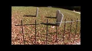 asylum cemetery fence tutorial halloween diy youtube