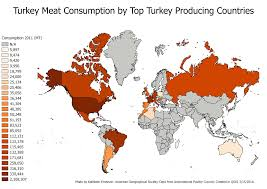 Turkey World Map National Poultry Day 2016 Ubique