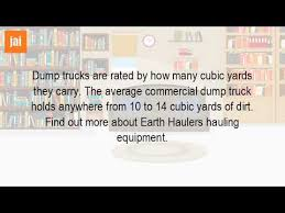 How Many Tons Per Cubic Yard Of Gravel How Many Cubic Yards Are In A Dump Truck Youtube