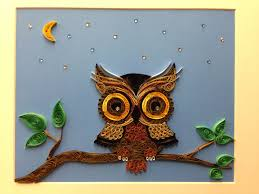 Owl Item by Paper Quilling Owl Framed Art 11x14