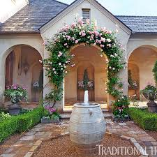 picturesque courtyard garden traditional home